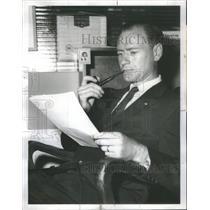 1960 Press Photo H.W. Liebetrau Assistant Director Cargo United Air Lines