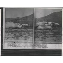 1964 Press Photo DC7 Airliner Air Safety Test Crash - RRX84833