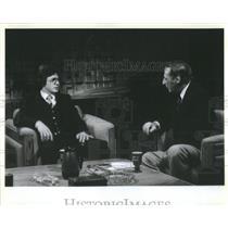 press photo Walter Polovvchak soviet deflector being interviewed by Irv Kupcine