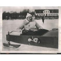1928 Press Photo Christian of Denmark Ice Yachting In Copenhagen - RSC68717