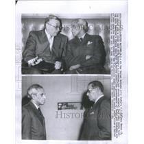 1957 Press Photo India's V.K. Krishna Menon & Russia's A.A Soboley - RSC65297