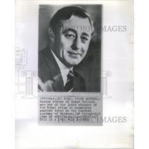1963 Press Photo George Porter Nobel Prize Winner in Chemistry - RSC72507