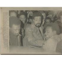 1967 Press Photo Black Power Militant Stokely Carmichael JFK Airport - RSC55137