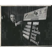 1975 Press Photo Ralph Betch state Lottery new Super Slaw Lottery game Lenahen