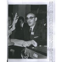 1959 Press Photo Cuban Foreign Minister Raul Roa OAS Foreign Minister session