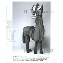 Press Photo Pablo Picasso design horse Leonide Massine - RRW40289