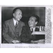 1955 Press Photo Carlos Romulo Philippines