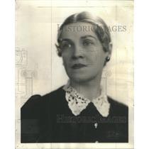 1937 Press Photo Mrs. Wesley W. Polk, 3rd VP & Chairman of Woman's Club of Evans