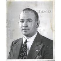 1954 Press Photo Lou Paris Sun-Times Reporter - RSC94393