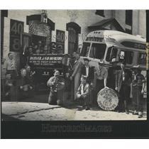 1938 Press Photo bus fun American legion convention