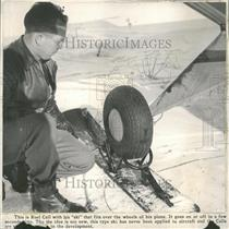 Press Photo Ruel Call Ski Plane Wheel Attachment