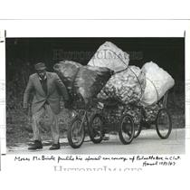 1987 Press Photo McBride rig bicycle parts Clearwater