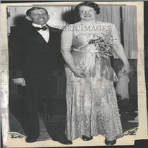 1930 Press Photo William Hays with his new bride.