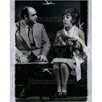 1970 Press Photo Actor James Coca Actress Doris Roberts