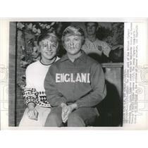 1963 Press Photo Linda Ludgrove, British Swimming Team