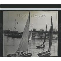 1940 Press Photo Sailboats Regatta Columbia Yacht Club