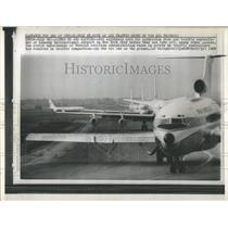 1985 Press Photo Jet Airliners Kennedy International