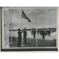 1967 Press Photo U.S.Flag Raised at Pan American Games.