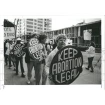1990 Press Photo St Petersburg Marchers Keep Abortion