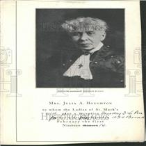 1914 Press Photo Mrs Julia Houghton  Ladies of St. Mark