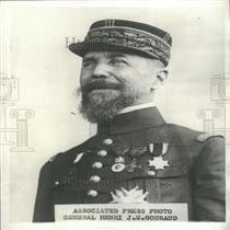 1930 Press Photo General Henri J. E. Gouraud Of France.