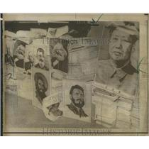 1967 Press Photo Communist Chinese Propaganda Mexico
