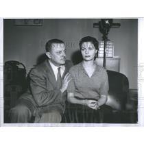 1957 Press Photo Italian Consul General Count Ludovico Barattieri Olga Vittorio