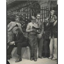 1934 Press Photo Chicago Latin School for Boys Students