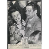 1943 Press Photo President Higinig Morinigo of Paraguay dancing with Lina Romey