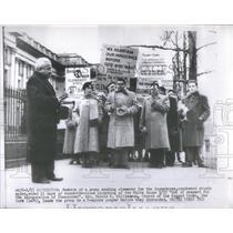 1917 Press Photo group seeking clemenc for Rosenbergs rev. Harold S. williamson