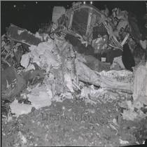 1955 Press Photo Colorado Plane Crash Wreckage Debris - RRV26549