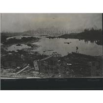 1916 Press Photo Lake Formed Black Tom Explosion