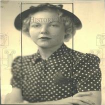 1940 Press Photo Miss Anne Evans Social Worker