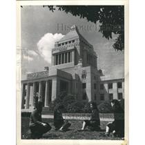 1948 Press Photo National Diet Building Tokyo Japan