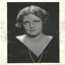 1932 Press Photo Portrait Study Mrs Hurley Pol Wife