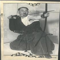 1928 Press Photo KK Miyamoto Dentist Japanese Archery