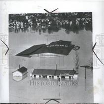 1948 Press Photo Gas Pumps Restaurant Marietta Flood