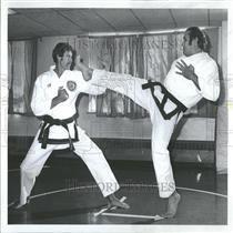1978 Press Photo US Karate Team Practicing Blocks