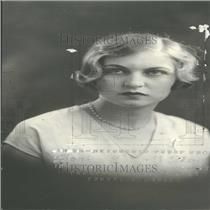 1927 Press Photo Miss Winifred Dutton