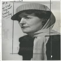 1941 Press Photo Mrs. Graf judge VFW Women's Auxiliary