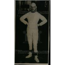 1915 Press Photo Man in Paper Suit