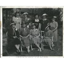1940 Press Photo Denver Press Council Luncheon Party