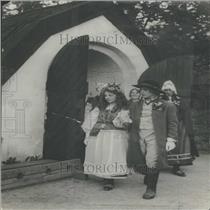 1935 Press Photo Skansen Museum Stockholm Wedding