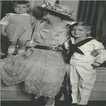 1924 Press Photo MRS. TRACY HOVER CHILDREN