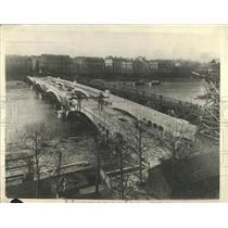 1918 Press Photo New Wilson Bridges Cross River Lyons