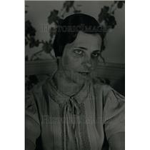 1936 Press Photo Mrs Julia Lally,Comnty House Hostess