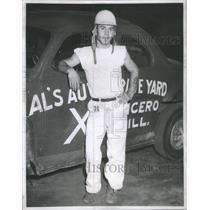 1950 Press Photo Johnny Riva Stock Car racer - RSC50501