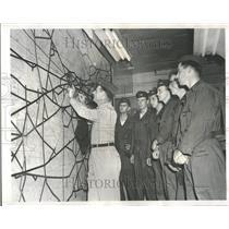 1952 Press Photo Map Korean Conflict Richard Dicker - RRV97227