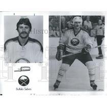 Press Photo Gilbert Perreault Canadian Ice Hockey Buffalo Sabres - RSC28755