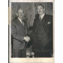 1945 Press Photo J. Arthur Rank President of the British Producers' Association